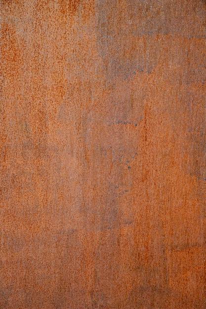 Muro de hierro marrón oxidado muy cerca Foto gratis