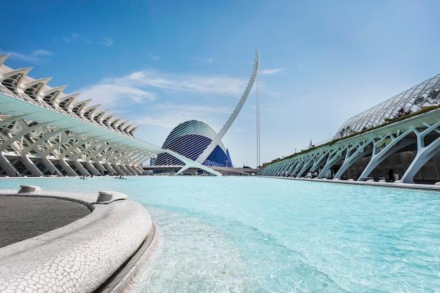 Museo de ciencias naturales en valencia, españa Foto Premium