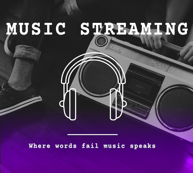 Música audio ocio sonar playlist Foto gratis