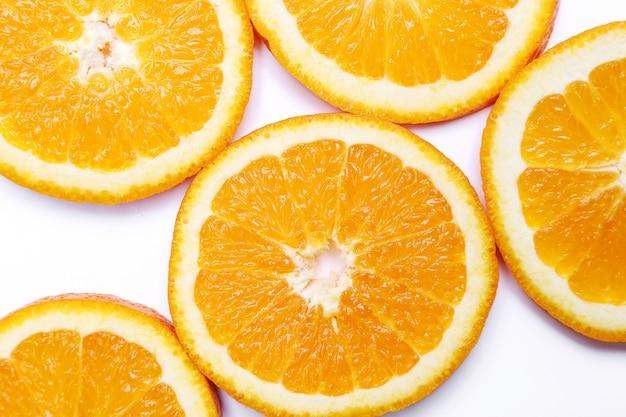 Naranja sobre blanco Foto gratis
