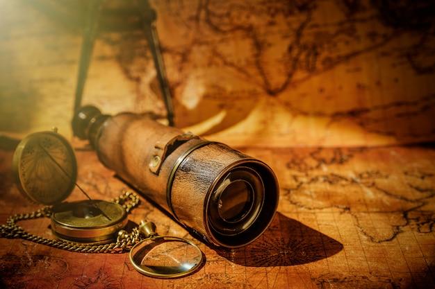 Navegación de geografía de viaje Foto Premium