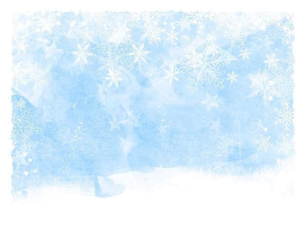 Navidad copos de nieve y estrellas Foto gratis