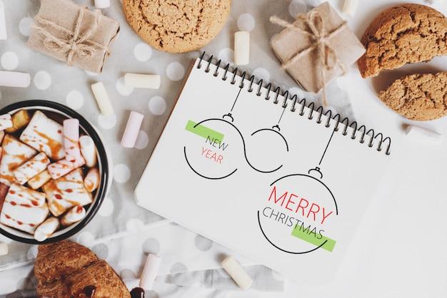 Navidad, invierno, año nuevo concepto Foto Premium