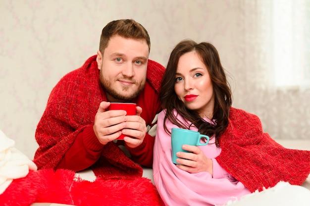 Navidad modelos de invierno de moda Foto gratis