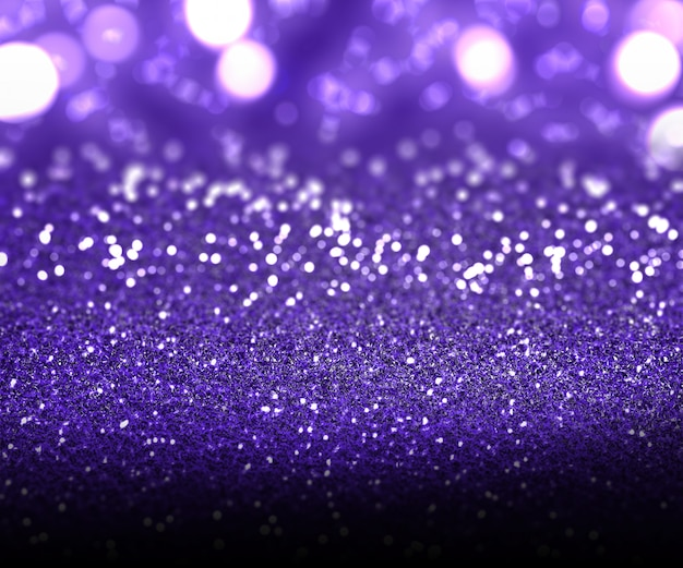 Navidad de purpurina púrpura y luces bokeh Foto gratis