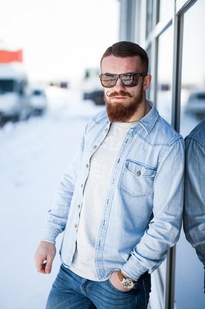 Negocio asiento trasero adulto barba coche | Descargar Fotos gratis