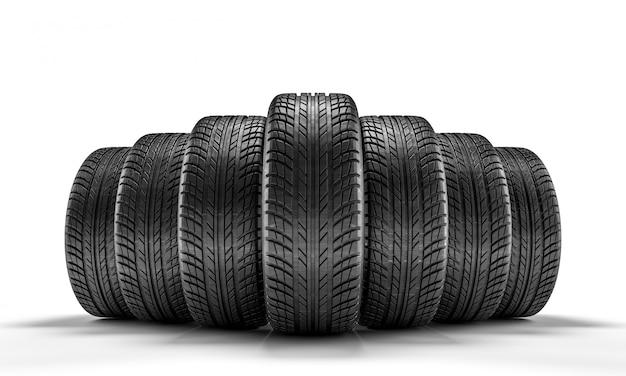 Neumático de coche nuevo Foto Premium