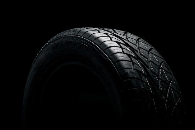 Neumático de goma oscura Foto Premium