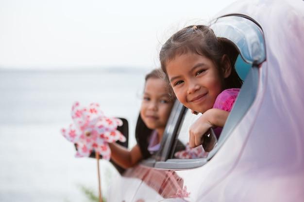 Viento Jugando Con Niña De Su Asiática Turbina Juguete tsdhQr