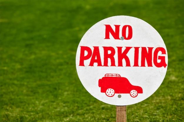 Ninguna señal de aparcamiento Foto Premium