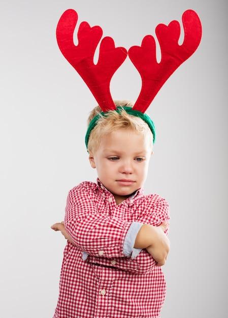 Niño con cuernos de reno | Descargar Fotos gratis