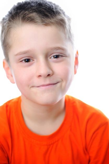 Niño muy positivo y lindo | Descargar Fotos Premium