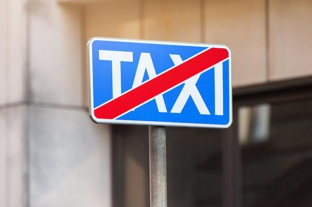 No hay señal de tráfico de estacionamiento de taxis Foto Premium