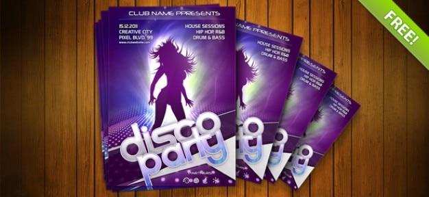 Noche Flyer club PSD plantilla
