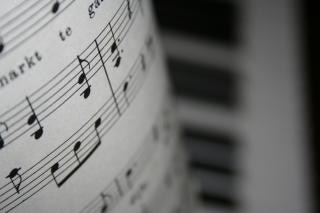 notas y piano Foto Gratis