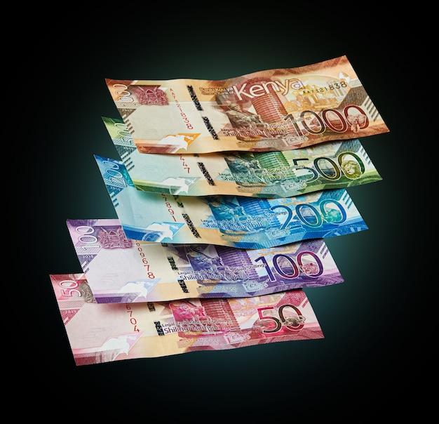 Nuevos billetes de la moneda de kenia Foto Premium