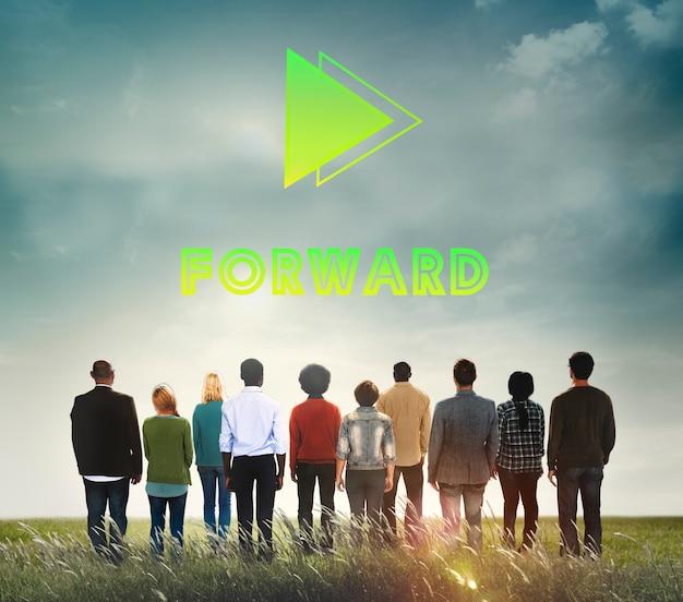 Objetivos objetivo futuro positividad misión concepto Foto gratis