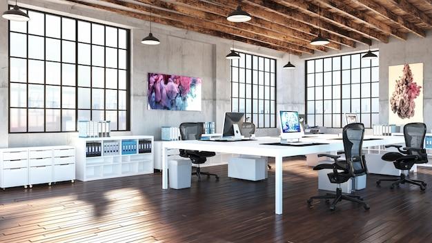 Oficina industrial moderna Foto Premium