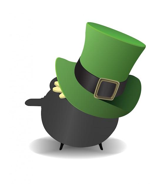 Olla de oro con un sombrero de copa  05820e00e122