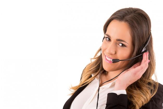 Operador telefónico Foto Premium