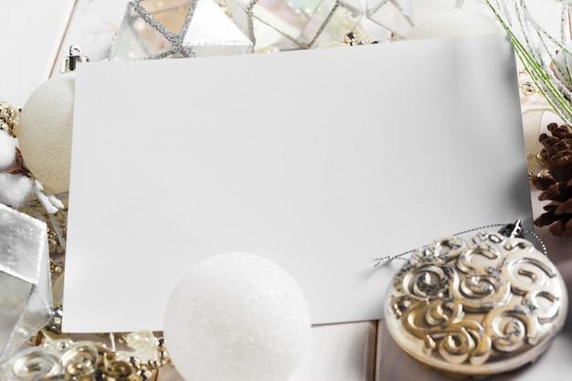 Ornamento de vacaciones de navidad Foto Premium
