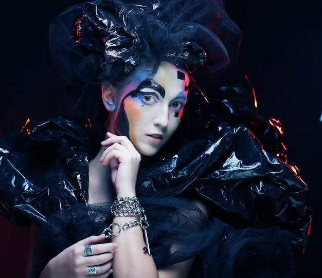 Oscura hermosa princesa gótica, Foto Premium