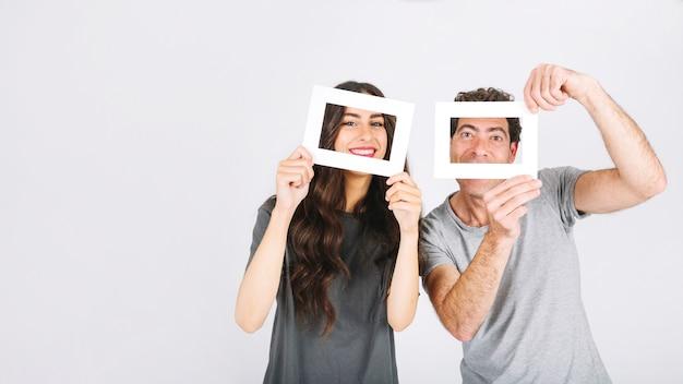 Padre e hija con marcos | Descargar Fotos gratis