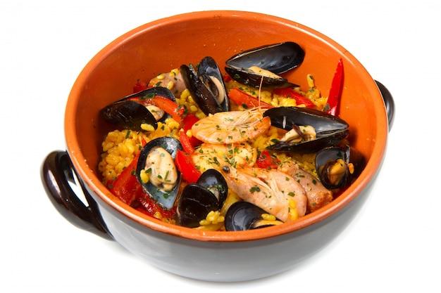 Paella comida española Foto Premium