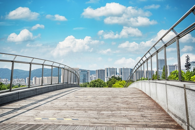 Paisaje azul soleado moderno típico Foto gratis