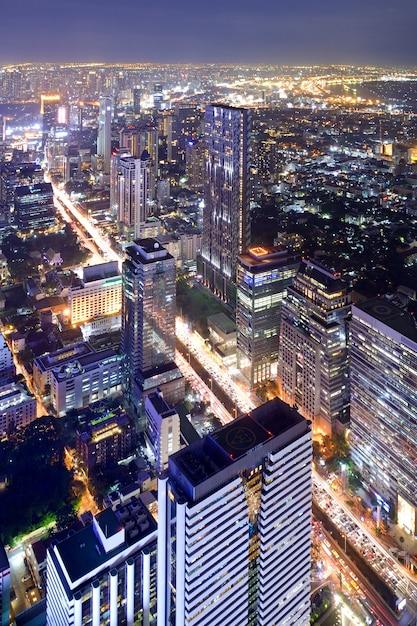 Paisaje de la ciudad de bangkok tailandia Foto Premium