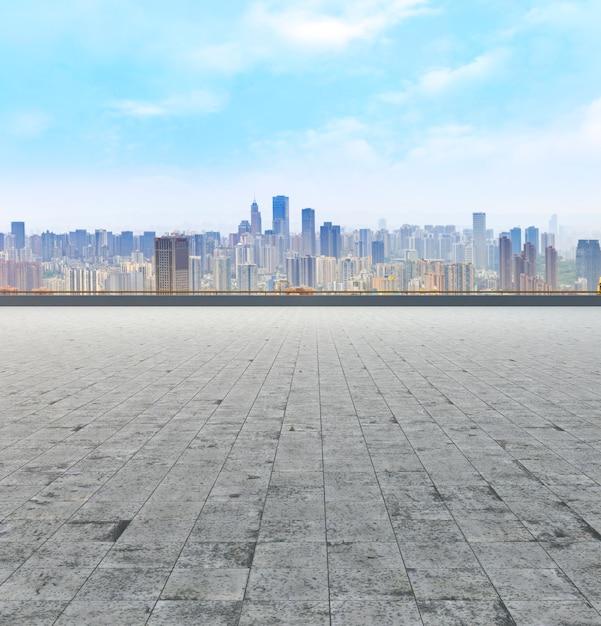 Paisaje, edificio, futurista, horizonte, oficina, oriental Foto gratis