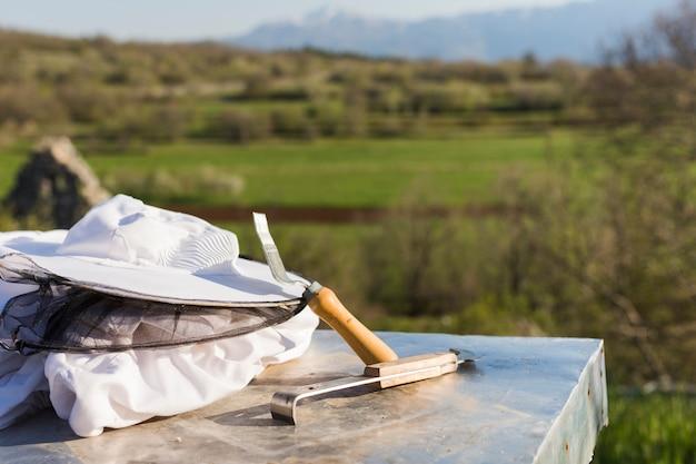 Paisaje granja de miel Foto gratis