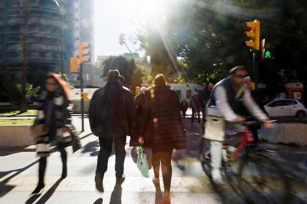 Paisaje urbano borroso Foto gratis