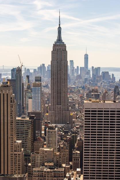 Paisaje urbano de la ciudad de nueva york Foto Premium