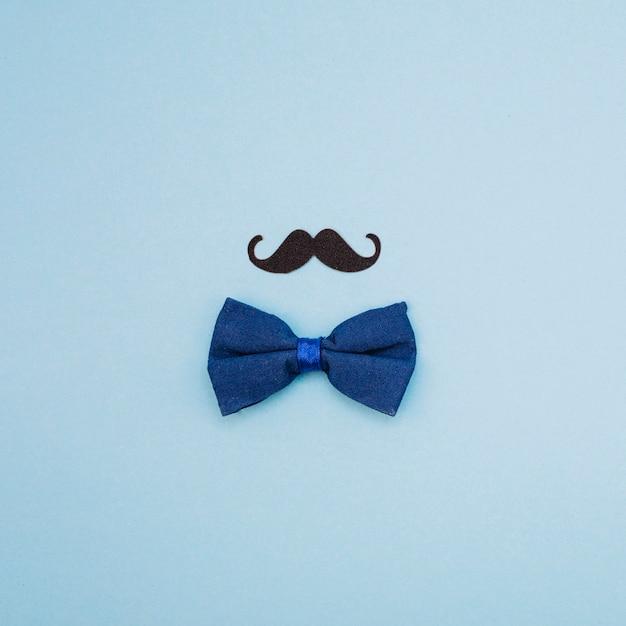Pajarita y bigote ornamental. Foto gratis