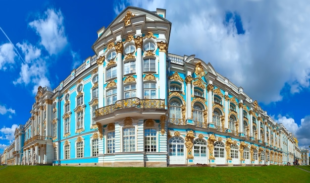 Palacio de catherine en tsarskoye selo Foto gratis