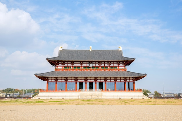 Palacio heijo en nara, japón Foto Premium