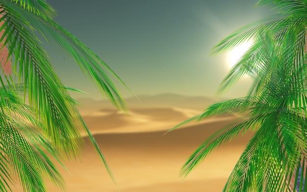 Palmeras en el desierto Foto gratis