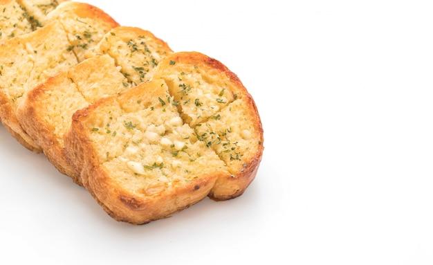 Pan de ajo sobre fondo blanco Foto Premium
