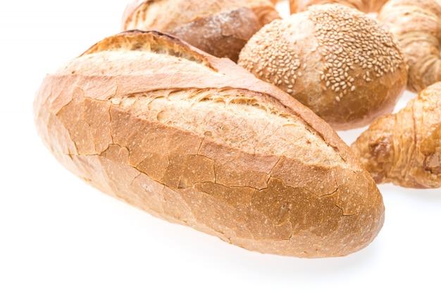Pan de croissant de mantequilla francés y panadería Foto gratis