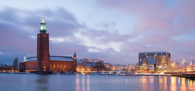 Panorama de la ciudad de estocolmo Foto Premium