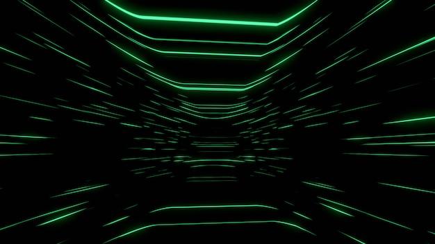 Pantalla de brillo de velocidad de línea verde de fondo de pantalla de fondo negro abstracto Foto Premium
