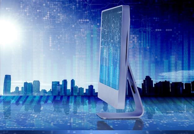 Pantalla de la computadora en concepto de negocio Foto Premium
