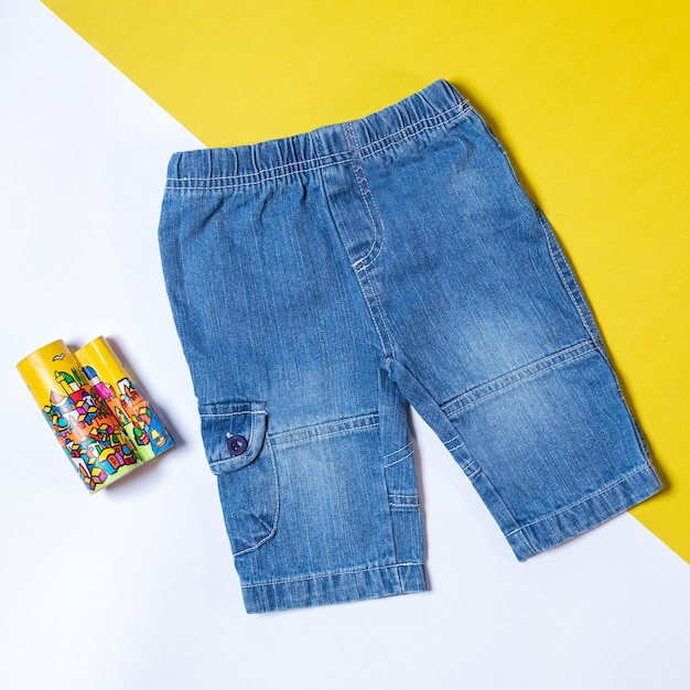 Pantalones Vaqueros Cortos Aislados Foto Premium