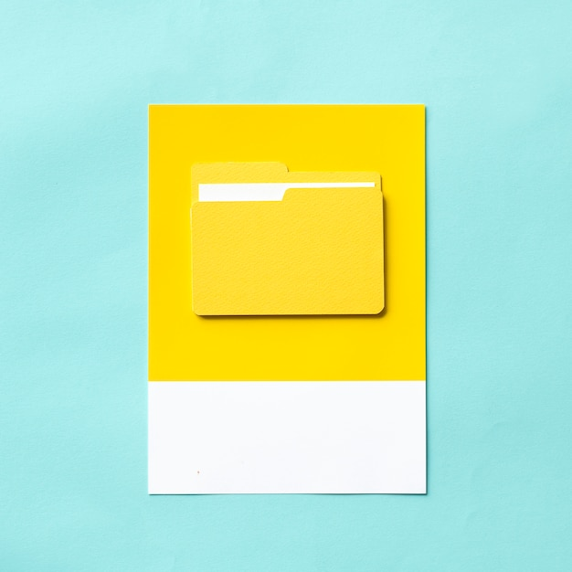 Papel artesanal de la carpeta de documentos. Foto gratis