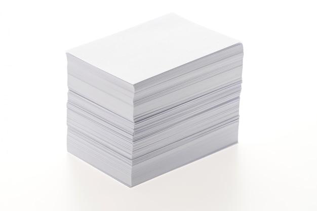 Papel blanco en blanco Foto gratis