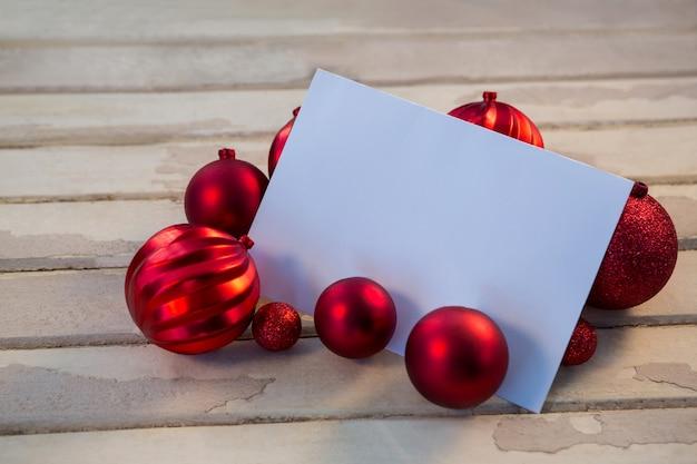 Papel en blanco con bolas de navidad descargar fotos gratis - Bola de navidad con foto ...