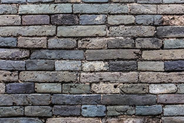 Pared de ladrillos de tonos azules de cerca | Descargar Fotos gratis