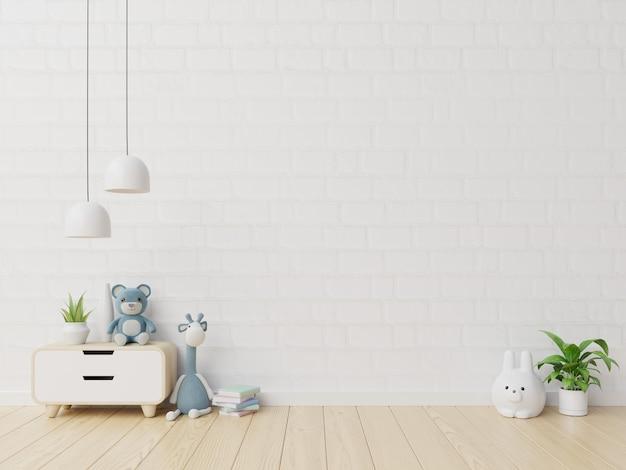 Pared en la habitación de los niños en la pared azul. Foto Premium