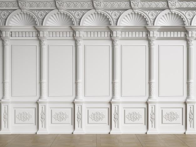 Pared interior clásica con molduras Foto Premium